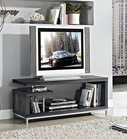 Weathered Grey Finish TV LCD Plasma Entertainment Center Stand - Wd Wood Finishes
