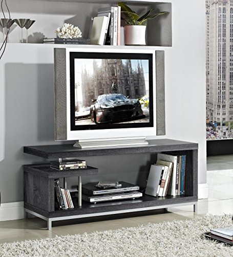 Contemporary Entertainment Stands (Weathered Grey Finish TV LCD Plasma Entertainment Center)