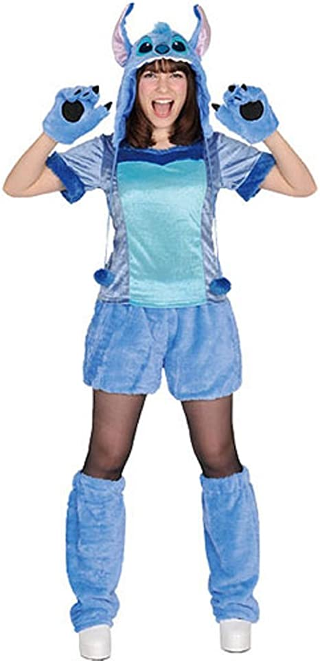 Amazon Com Disney S Lilo Stitch Costume Stitch Pullover Costume Unisex Teen Adult Costume Toys Games