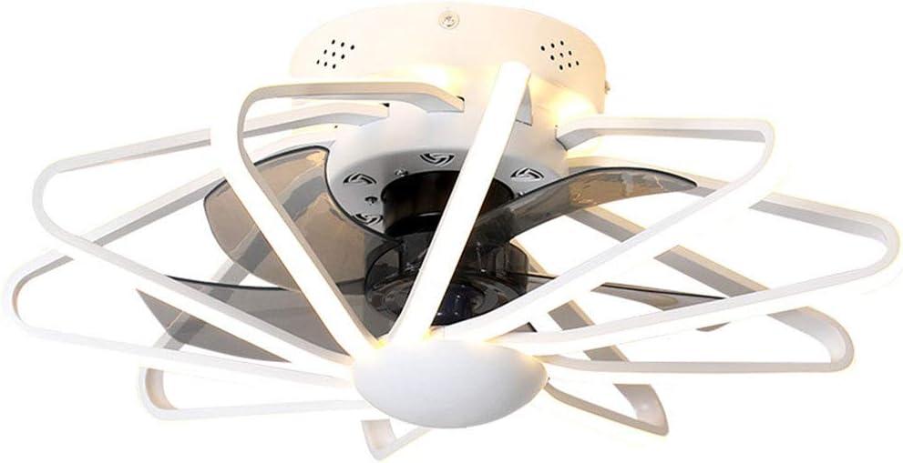 Ventiladores de Techo Invisibles Iluminación LED Regulable de 85 W Ventilador de Techo Moderno con Control Remoto 5 Aspas del Ventilador, Lámpara de Techo con Temporizador de 1/2/4/8 Horas,Blanco