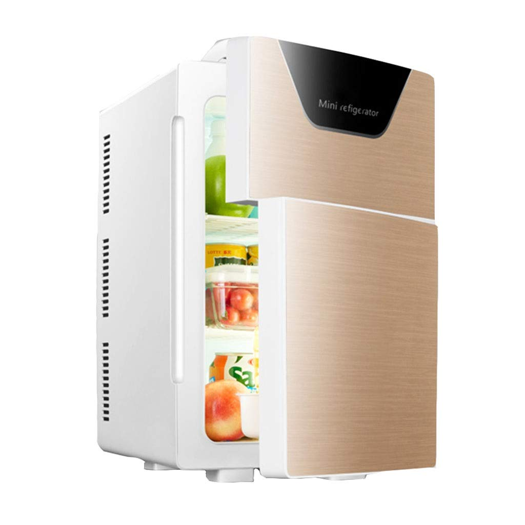 Refrigerator SHPING 20L Car Mini Home Vertical Large Capacity LED Touch Screen Double Door (Color : Gold, Size : Machinery) by Refrigerator