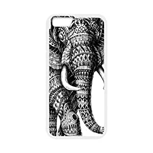 "GGMMXO Elephant Aztec Tribal Shell Phone Case For iPhone 6 Plus (5.5"") [Pattern-1]"