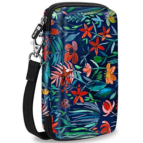 Fintie Carry Case for Kodak Mini/Mini 2 HD Photo Printer/Mini Shot 2 in 1 Camera & Printer - Hard EVA Shockproof Storage Portable Travel Bag with Inner Pocket/Removable Strap, Jungle Night