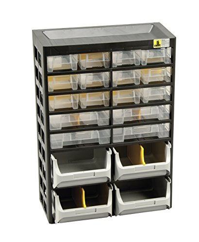 Allit 458160 Small Parts Cabinet ''Varioplus Basic D 34'' In Black/Yellow by Allit