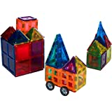 35pcs Magnetic Blocks For Kids Building Blocks Set Includes a Car Base and Windows Meets ASTM F963 Standards
