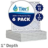 16x24x1 Merv 13 Ultimate Allergen Pleated Replacement AC Furnace Air Filter (6 Pack)