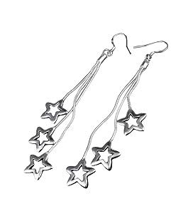 Eudola Boucles d'oreilles,Trois Glands étoiles à Cinq branches Boucles d'oreilles Accessoires de Ornée Exquis Bijoux Cadeau Pour Les Fmmes Dame Filles