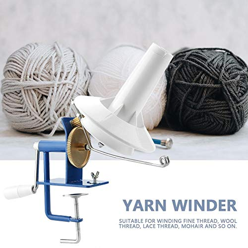 VistorHies - Portable Yarn Ball Winder Hand-operated Wool String Fiber Ball Winder for Yarn Fiber Winding Machine by VistorHies (Image #4)
