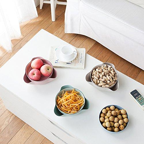 Astra Gourmet Double Dish Nut Bowl/ Pistachio Bowl/ Pedestal Snack Dish/ Olive Nut Server Serving Bowl(Green)