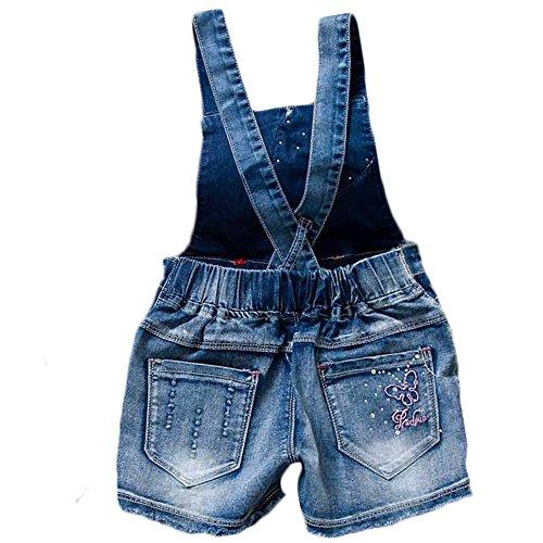 YAO Summer Little Girls Cotton Denim Bib Braces Rompers (4T) by YAO (Image #1)