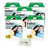 Fujifilm Instax Square Instant Film - 100 Exposures + Quality Photo Microfiber Cloth …