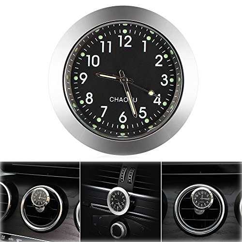 Car Clock, ONEVER Car Air Vent Quartz Clock Mini Vehicle Dashboard Clock, 1.4