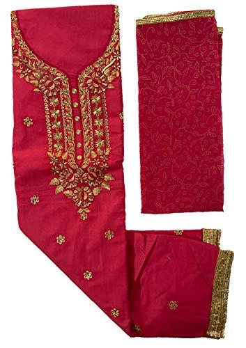 Embroided Women's Unstitched Salwar Suit Set-