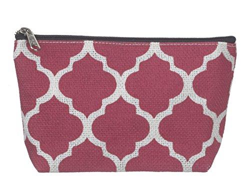 Ganz Quatrefoil Cosmetic Bag Pink