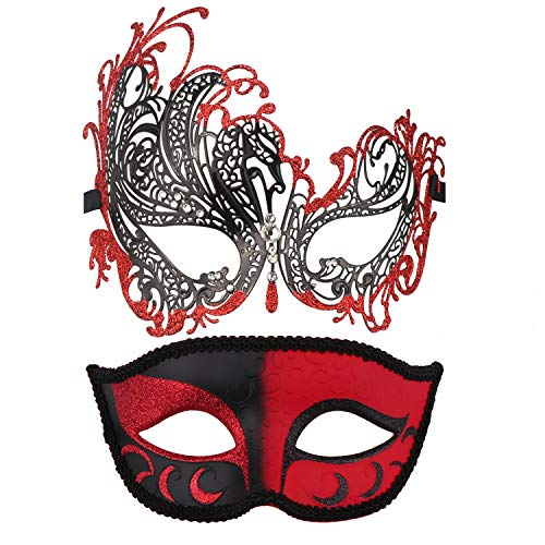 Couple's Masquerade Masks Mardi Gras Mask Venetian Party Mask Halloween Costumes Accessory ()