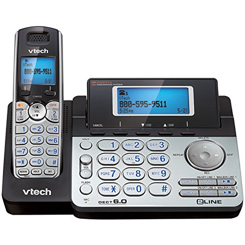 VTech Dect 6.0 Two-Line Cordless Phone System (Dect Dual Phone)