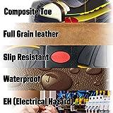 ROCKROOSTER Mens Work Boots, 6'' Waterproof Wide