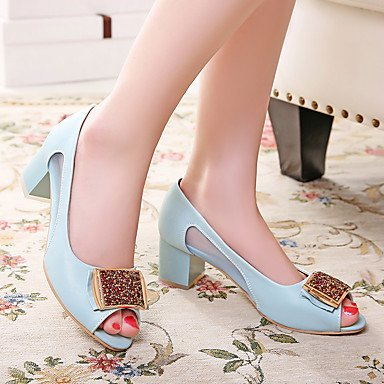 LvYuan-GGX LvYuan-GGX LvYuan-GGX Damen High Heels Pumps Künstliche Mikrofaser Polyurethan PU Frühling Sommer Hochzeit Kleid Party & Festivität Pumps Strass Blockabsatz Weiß us5.5   eu36   uk3.5   cn35 d83a59