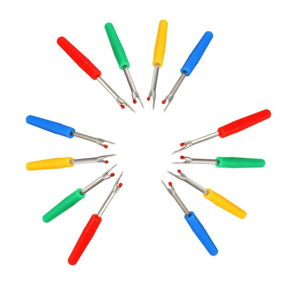 12 Pcs Plastic Small Seam Ripper Plastic Handle Sewing Stitch Thread Unpicker,Color Random by HONGTIAN Clarity Deals