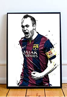 fc2c33a3e Andres Iniesta Limited Poster Artwork - Professional Wall Art Merchandise  (More Sizes Available) (