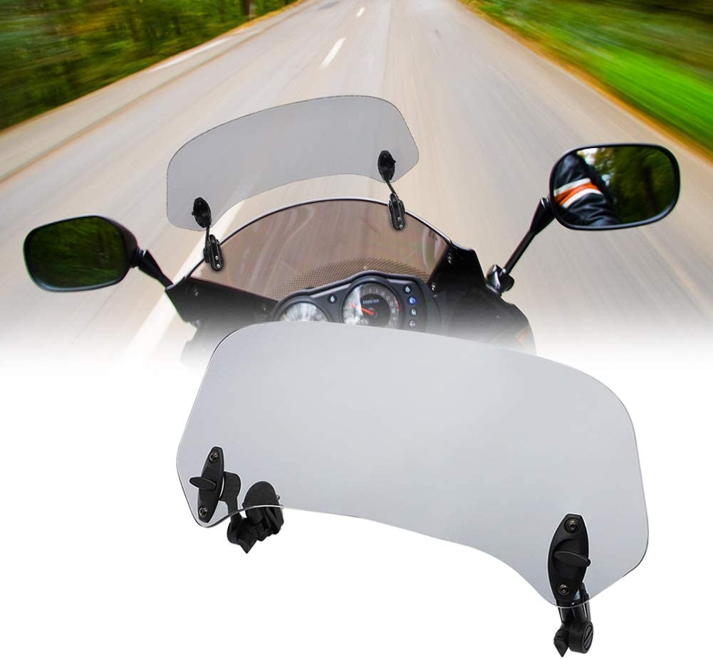 Arashi Windshield Windscreen Extension Clip for BMW HONDA SUZUKI YAMAHA KAWASAKI R1200GS GS 1200 GS1200 F800GS R1150GS R1250GS Motorcycle Accessories Gray