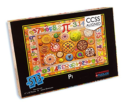 - Standards in Puzzles Common Core Pi Jigsaw Puzzle with Downloadable Station Activities and Lesson Plan for Middle School Math - Circumference and Area of a Circle 513 pcs.