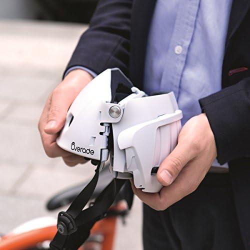 OVERADE Casque Pliable Plixi pour vélo, Trottinette électrique, gyroroue, Skateboard, Roller, VAE - Répond à la Norme CE EN1078, même Protection Qu'Un Casque Classique - Volume divisé par 3