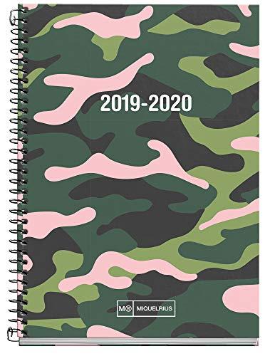 Miquelrius agenda escolar con espiral 2019 2020 día página pink jungle español 117x174 mm