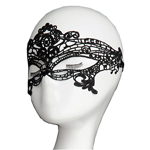 Women Sexy Lace Eye Mask for Halloween Masquerade Party Bar Birthday (Scary Pretty Halloween Costumes)