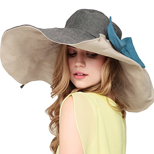 "Maitoseâ""¢ Women's UV Sun Protection Beach Wide Brim Fishing Hat Gray"
