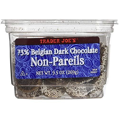 Trader Joe's 73% Belgian Dark Chocolate Non-Pareils