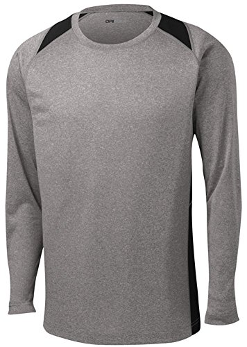 DRI-EQUIP Long Sleeve Moisture Wicking Athletic Shirts in Mens Sizes XS-4XL (Shirt Athletic Mens)