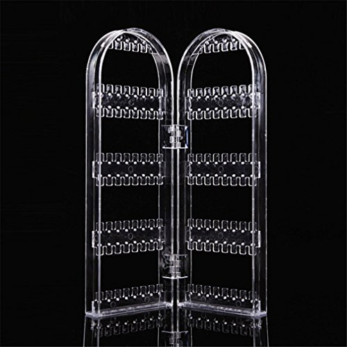 Jewelry Display Acrylic Clear Holder 120 Hole Cosmetic Organizer Storage Makeup Case Cabinet Box Jewelry Display Holder by UJKCKW JCSD (Image #2)