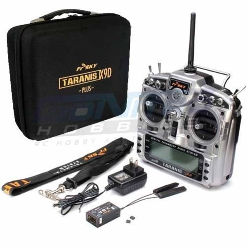 FrSky 2.4GHz ACCST Taranis X9D PLUS Radio Transmitter w/X8R Receiver & EVA Case