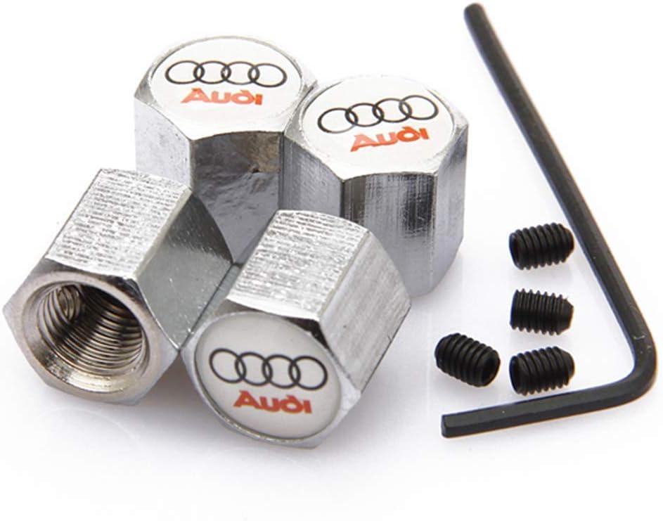 4 x Audi Cromata TAPPI Polvere Valvola Pneumatico A4 A5 A3 Q5 Q7 Cerchi In Lega Nuova linea S A6