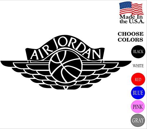 23 Micheal Air Jordan Flight Logo Vinyl Decal Sticker - Car Window, Laprop, Wall, Mac (23
