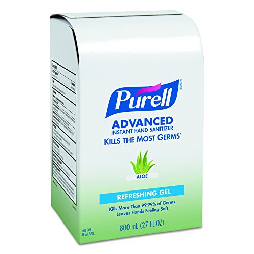 PURELL 9637 Instant Hand Sanitizer 800mL Refill, Aloe (Case of 12) by Purell