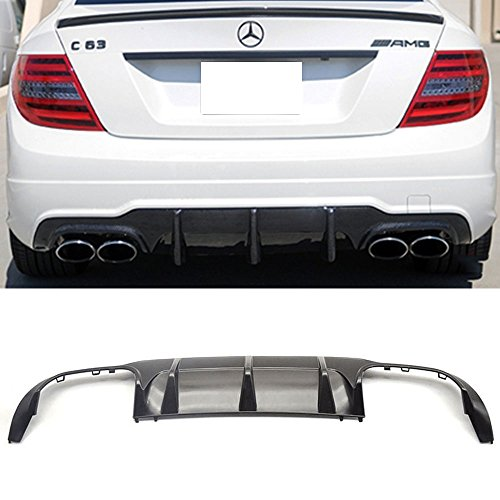 Rear Diffuser Fits 2012-2014 Mercedes W204 | C-Class AMG Style Rear Bumper Lip Diffuser ABS by IKON MOTORSPORTS | 2013
