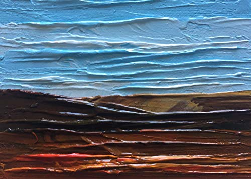 Mountain Landscape Oil ACEO Painting Mini 3 1/2 Inches by 2 1/2 Inches Art Julia Garcia ()