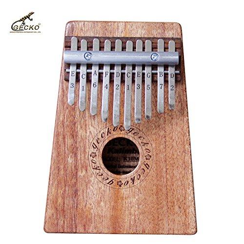 Gecko K10M 10 Key Mahogany Kalimba African Thumb Piano Finger Percussion Keyboard Music Instruments K10MEQ