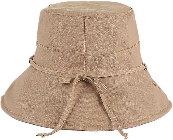 Beige Diamoen Au/ßen Fischer-Hut Camping Wandern Sonnenschutz Frauen Cotton Hut Verstellbarer Fischer Kappe Adjustable Fischerm/ütze