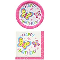 Greenbrier Happy Birthday Butterfly Theme Party Pack