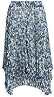 Clu Women's Double Layered Floral Pleated Skirt