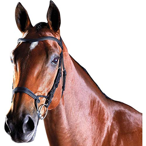 Collegiate Comfitec Leather Training Bridle (Full) (Black)