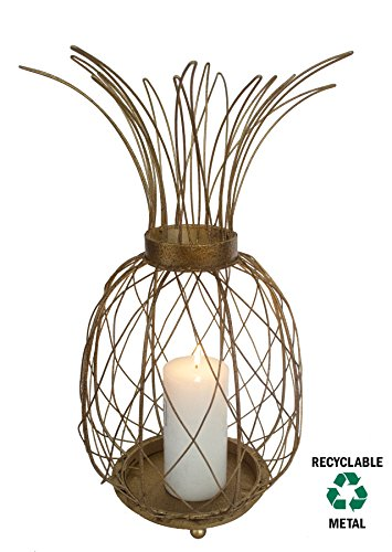 GIFTME 5 Metal Gold Pineapple Tabletop Candle Holder for Christmas Home Decor by (GOLD,19 inch) by GIFTME 5