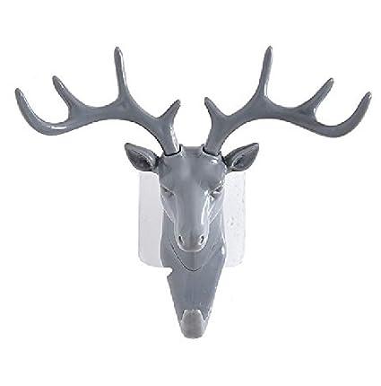 Estatua cabeza de ciervo resina Hanger Animal cabeza ...