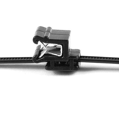 HELLERMANN TYTON P-Clips Black Nylon 6mm Pack of 10