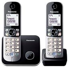 Panasonic KX-TG6812GB - Teléfono (120 entradas, Color blanco, 107 x 77 x 86 mm, 46 x 160 x 30 mm, 129 g, AAA) [Importado de Alemania] [versión importada]