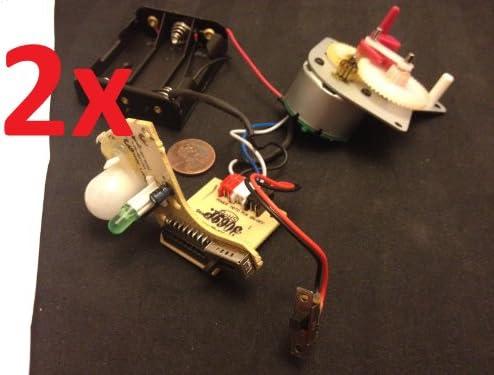 2 x Relé mecánico temporizador sensor de movimiento Moduel 555 movimiento de luz Gear Motor C11: Amazon.es: Bricolaje y herramientas