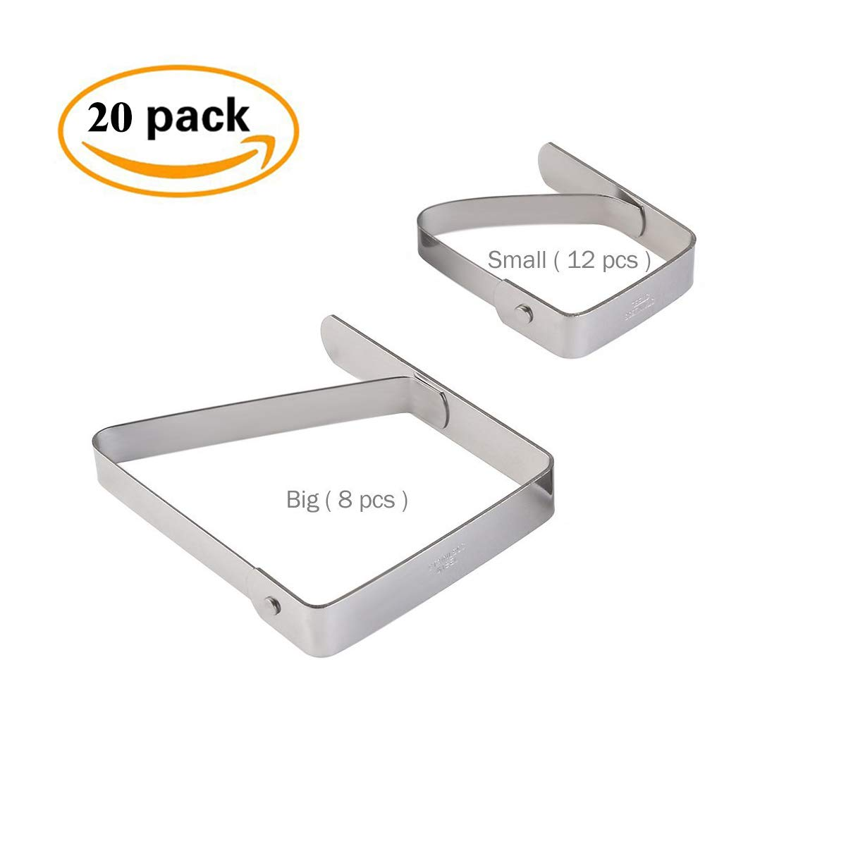 snowcc Stainless Steel Table Cloth Clip Table Cover Clamps for Indoor, Outdoor, Home, Wedding, Party and Picnic, Pack of 20 by snowcc